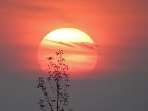 foto van zonsondergang bij blog over leven alsof het de derde week van je vakantie is
